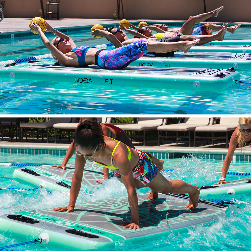Floating fitness and yoga mat